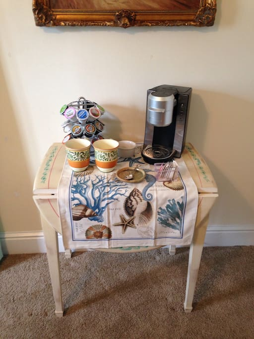 Fresh coffee/tea available in your room.