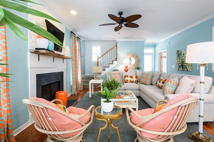 Vibrant Vacation Home Short Walk to Shops & Dining