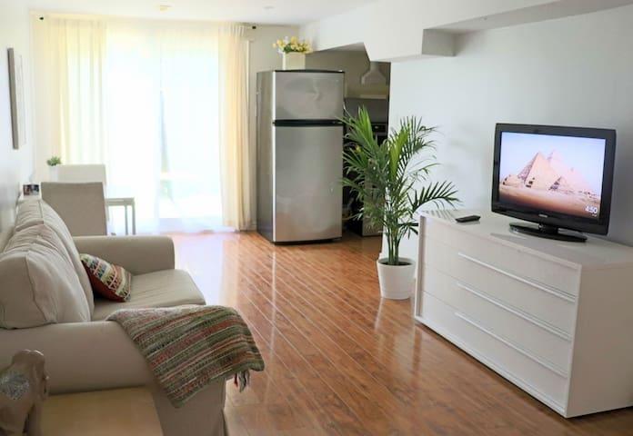 Charming bsmt apartment beside park + free parking
