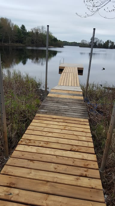 New dock on the lake.