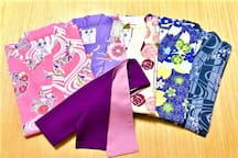 色浴衣レンタル(有料400円)