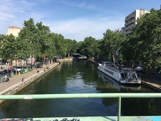 3 pièces Canal Saint Martin