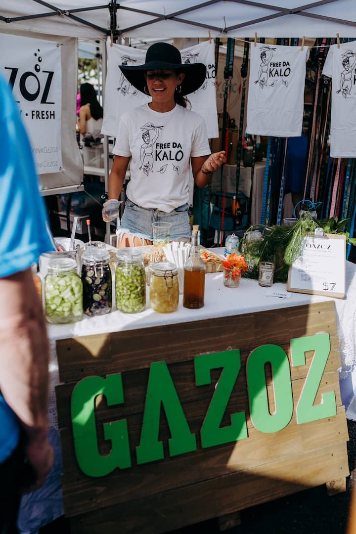 Danielle from Gazoz mixing up mocktails