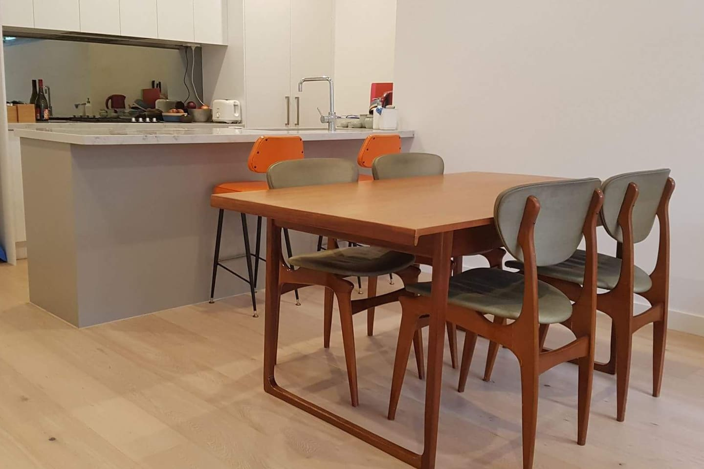 Open-plan living - dining and kitchen