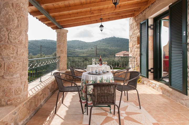 In the heart of the vast olive groves+table tennis