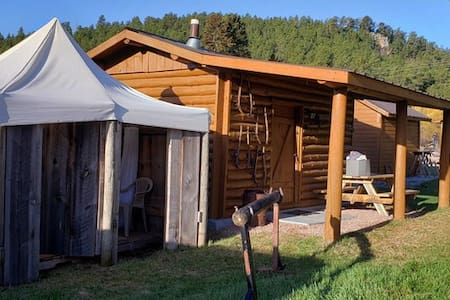 Plenty Star Ranch - sm Log Camping Cabin - 1 of 2