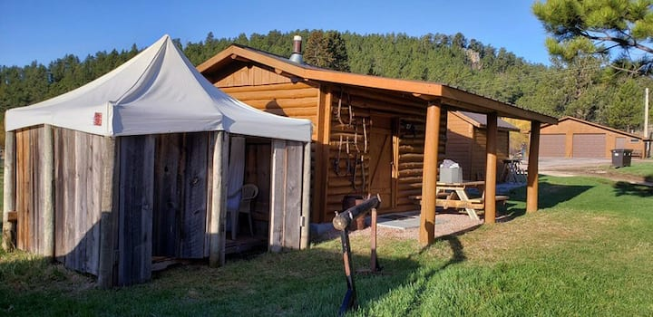 Plenty Star Ranch - sm Log Camping Cabin - 1 of 2