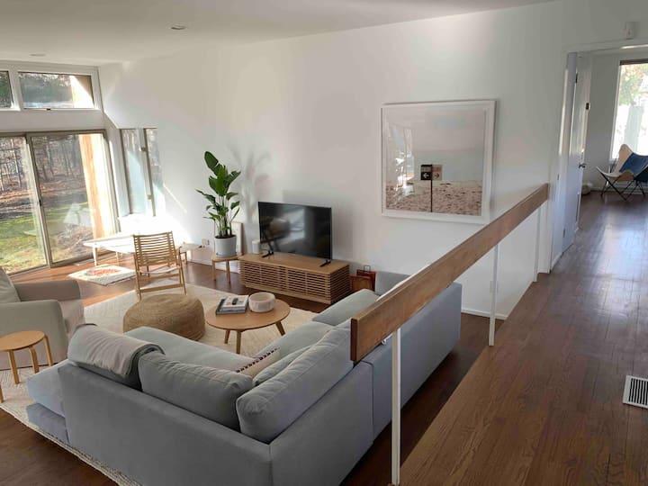 Mid Century, Bright + Airy Hamptons Beach House
