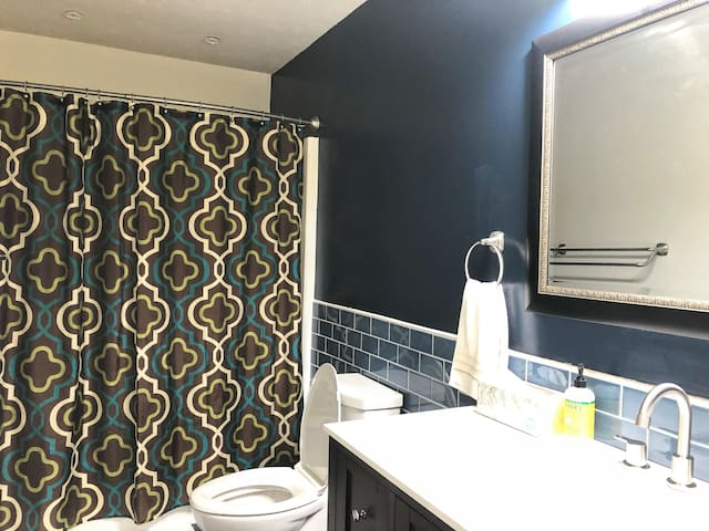 Private bathroom with amenities.  The bathroom has recently been remodeled.