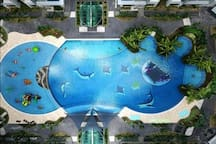 'Olympic size' Swimming pool.