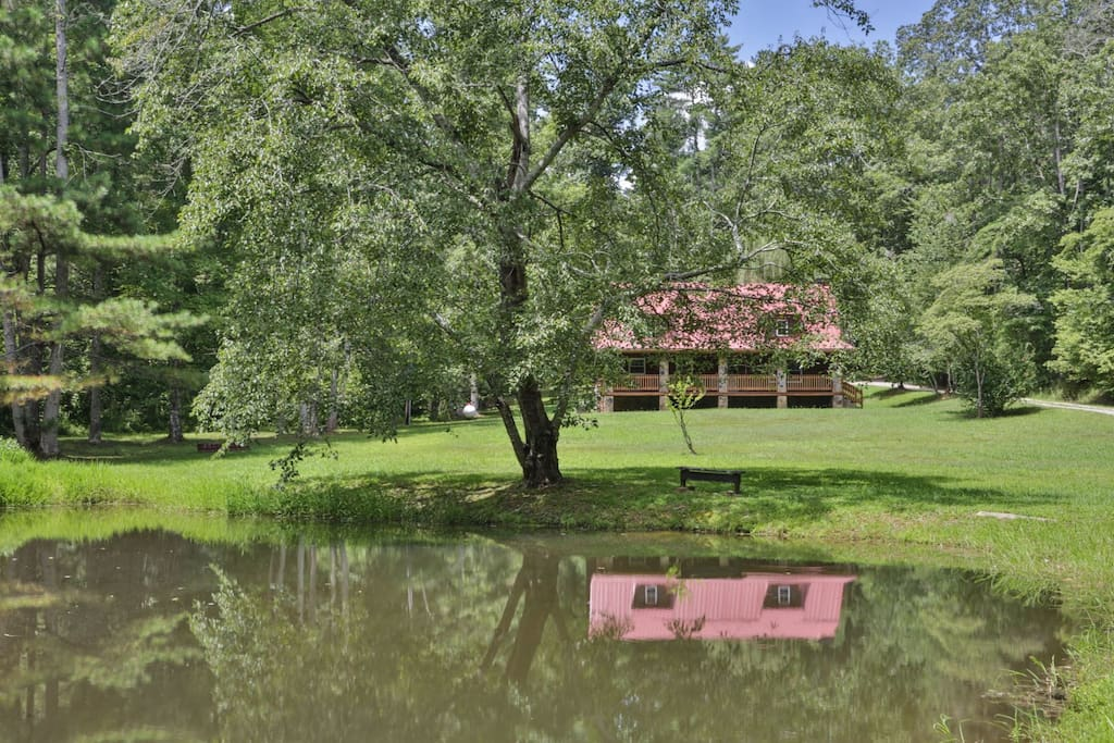 Beautiful Yard with catch and release pond near local vineyard