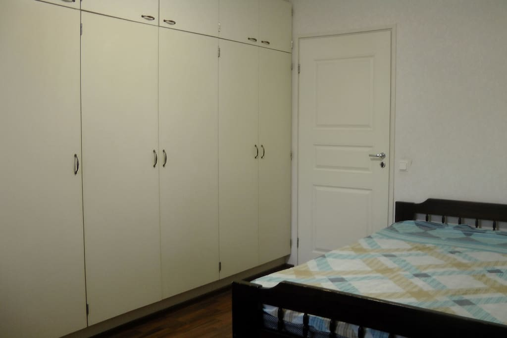 Plenty of space for your belongings. Room is 16m2.