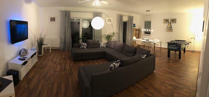 Großzügiges, modernes 120qm Apartm. nahe Frankfurt