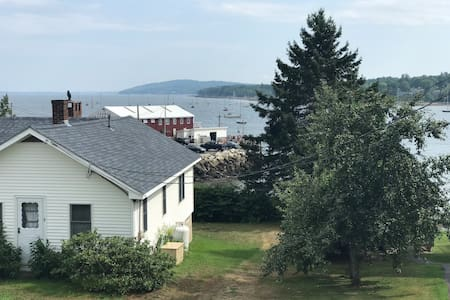 Harbor View Home Steps From Dockside Lobster