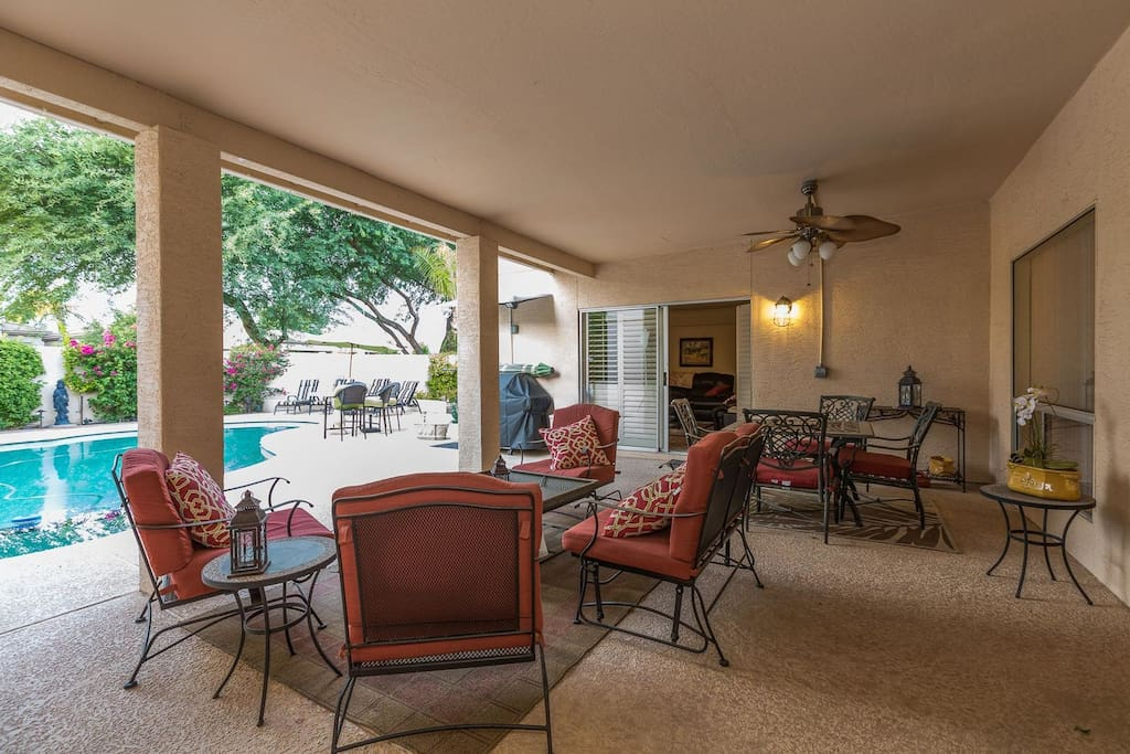 Private and peaceful covered patio