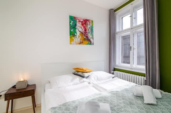 Cozy getaway in the heart of Prague w/ a kitchenette & free WiFi