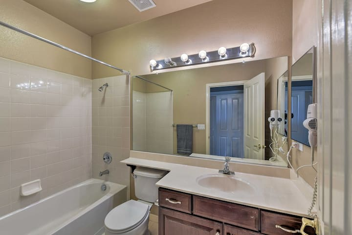 The fourth full bathroom features a shower/tub combo.
