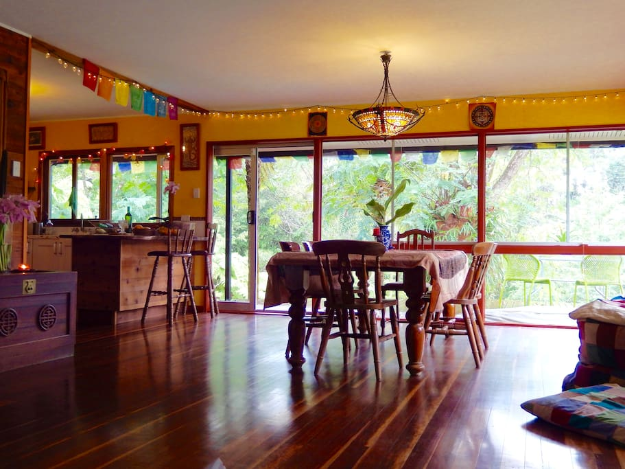 Your open space dining area & Kitchen...