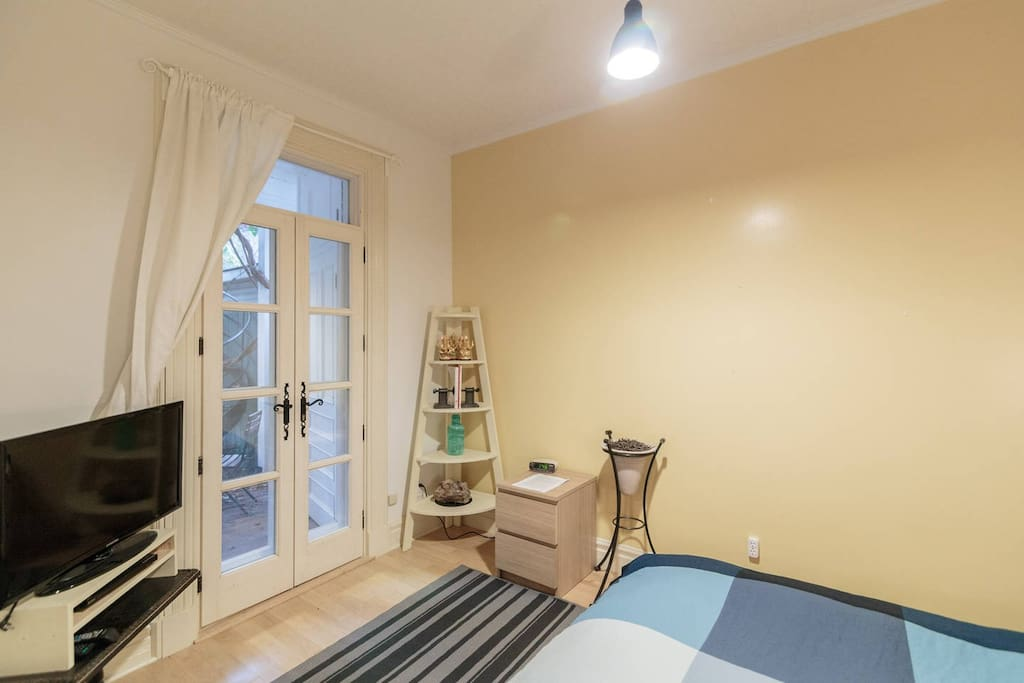 Amazing Bedroom Opening up to Patio