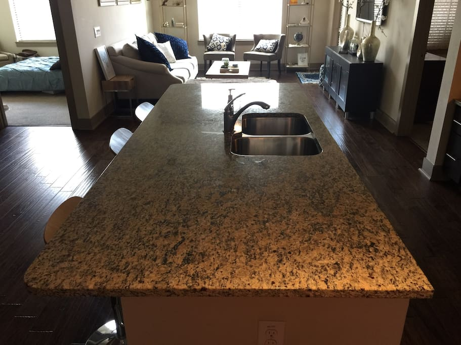 Extra large Kitchen Counter which can seat more than 7 adults