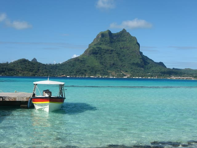 View of Bora Bora from Motu Tapu