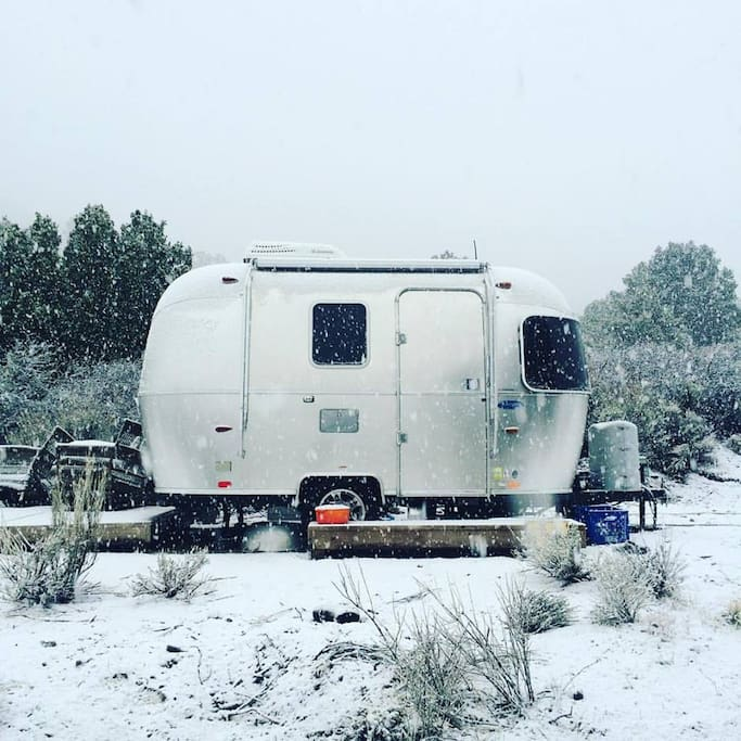 The ranch is located at 5200 ft elevation in the San Gabriel Mountains. Snow storms are occasional November through April.