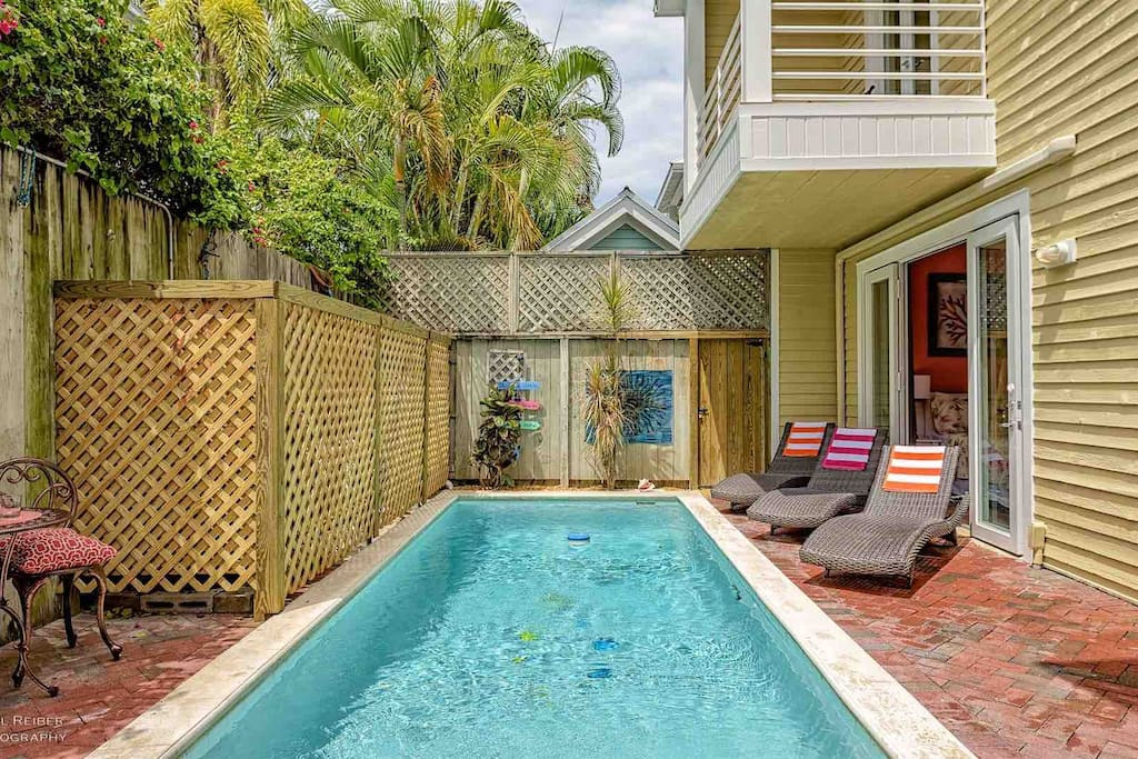The private pool is heat-optional and fully fenced...