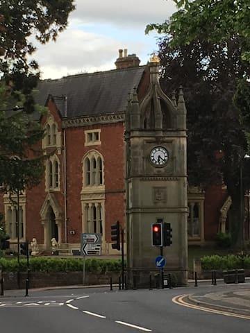 Victorian Clocktower close by