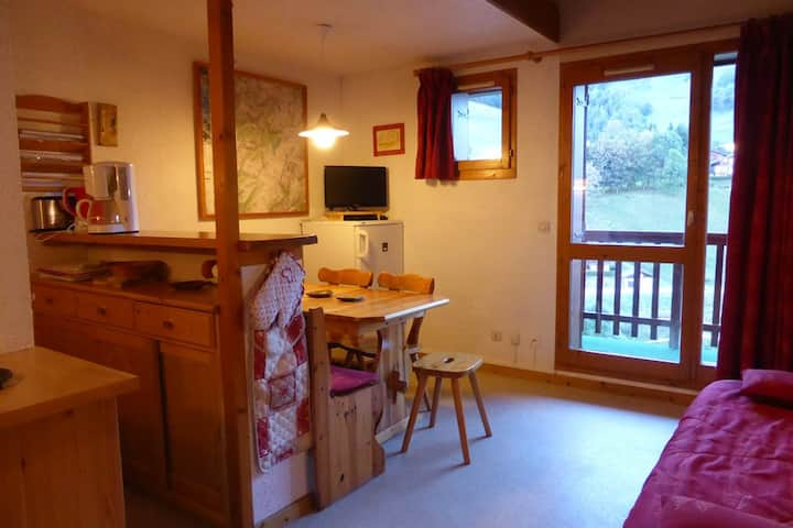 Apartment 6/8 persons center village close to the ski lifts
