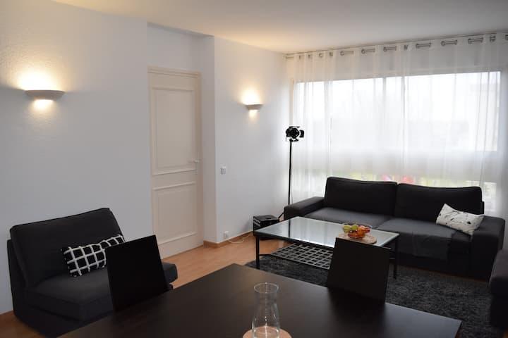 Spacious flat next to Geneva