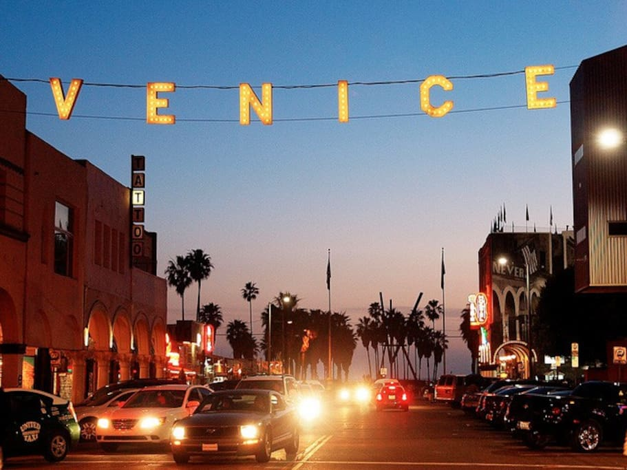 The Venice sign, just a few minutes walk from the house.