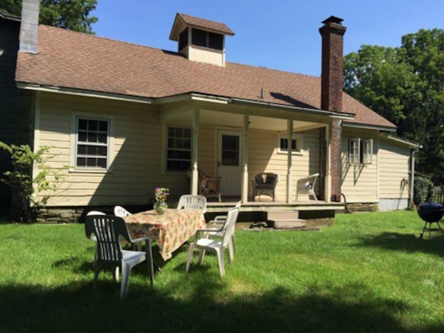 Sacred Grove Cottage Porch
