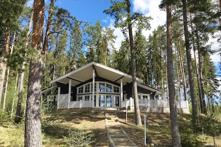 Cosy, modern log villa by the lake! - Hämeenlinna
