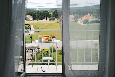 Countryside view en-suite room with balcony - Haus