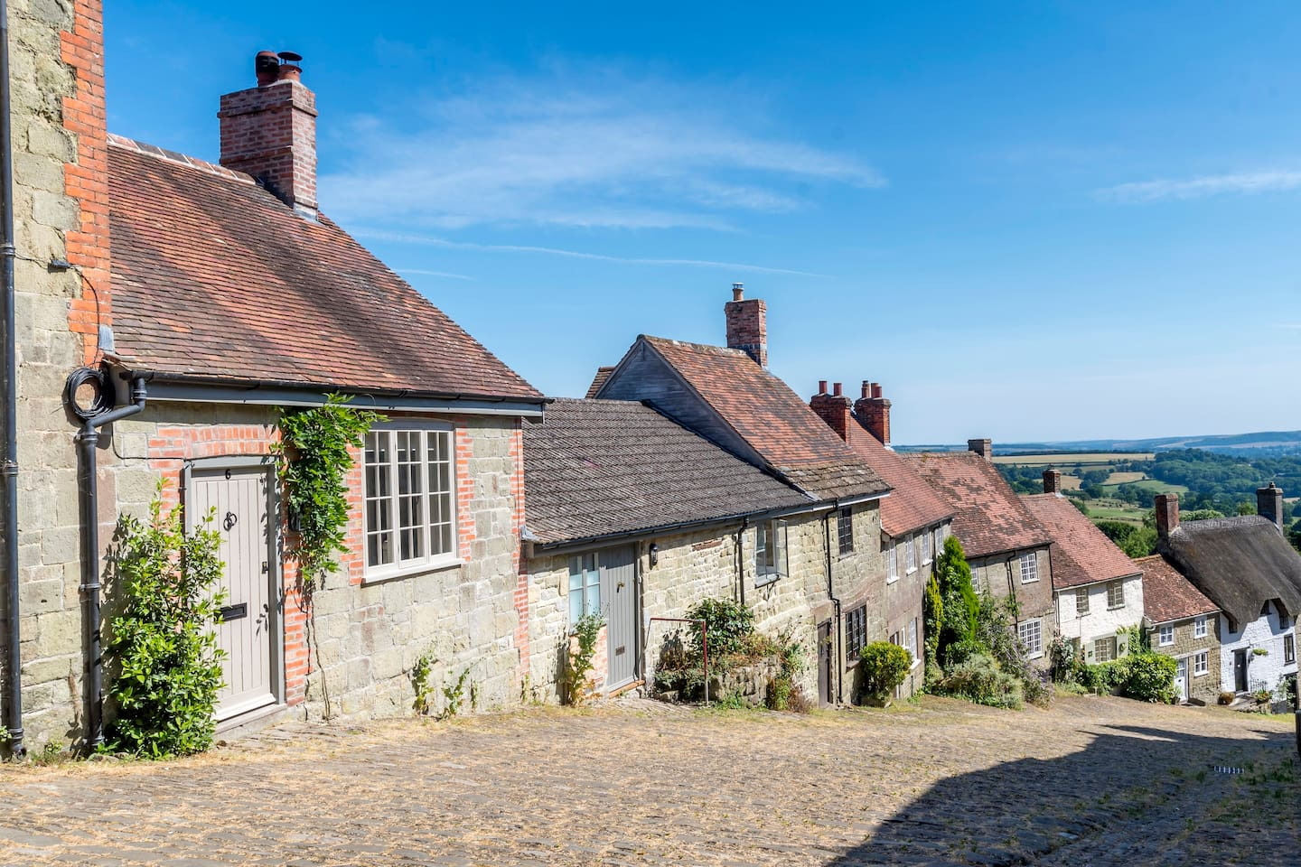 """Gold Hill has often been voted as """"one of the prettiest streets in the UK"""""""