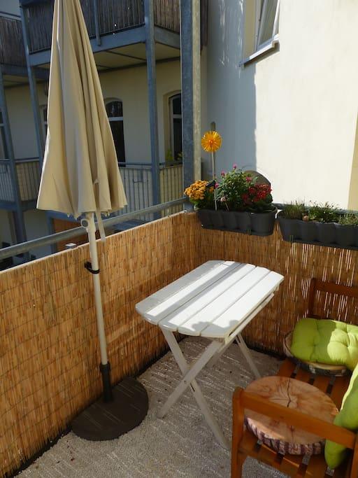 Sunny Beach Balcony with Hammock