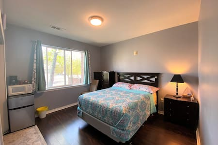 Private Queen Bed, Full Bathroom, and Smart TV