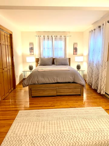 Smaller Master bedroom with private bathroom