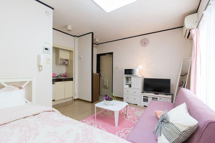 Luxury space Osaka 2minSTA 3pax nrNamba TV+WiFi - 大阪市住之江区 - Departamento