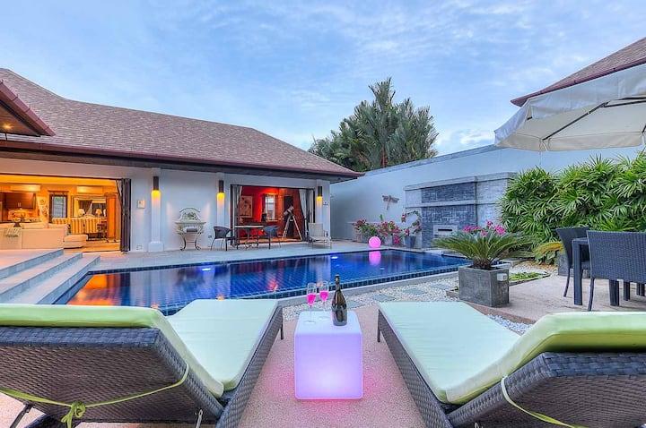 Stylish Balinese Boutique Villa, Rawai, 3 bedrooms