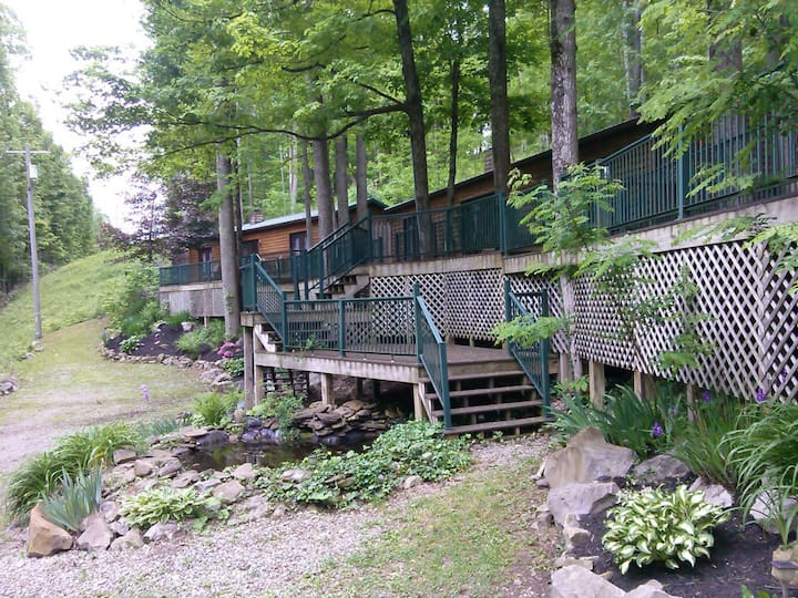 Hot Tub:WiFi :Sauna's:Pet Friendly WV Cabin Rental