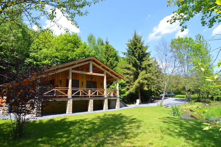Majestic Chalet in Arville with Whirlpool