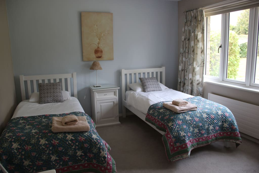 Blue room x 2 single beds