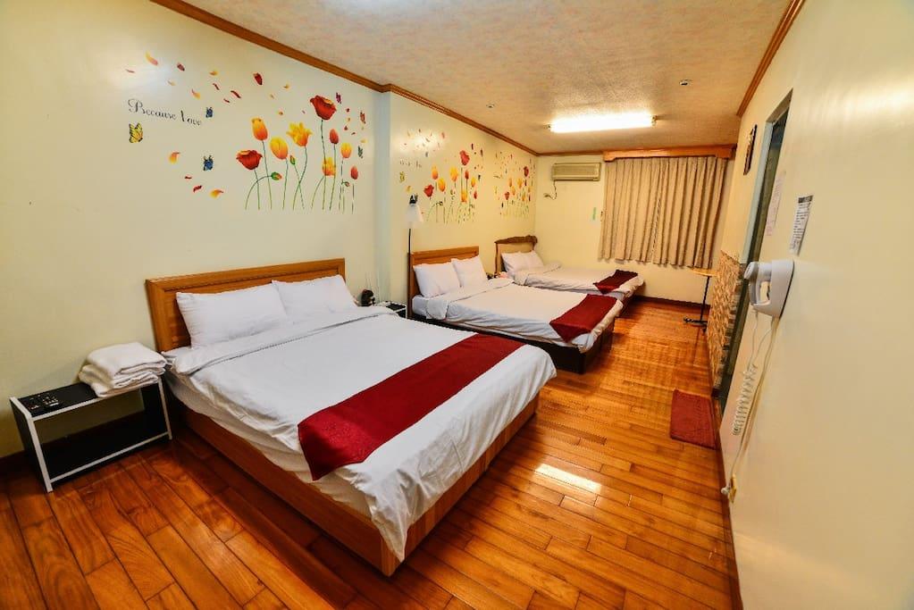 明亮潔淨房型 spotless room space