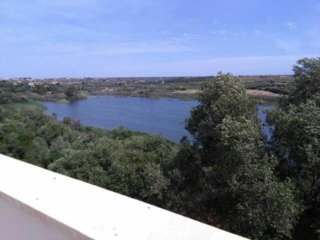Vista del lago preola