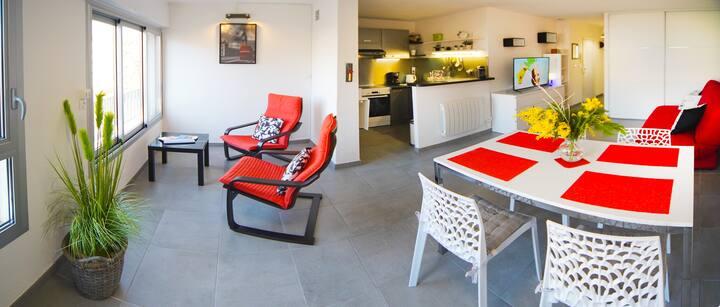 Spacious apartment Cap d'Agde with car park