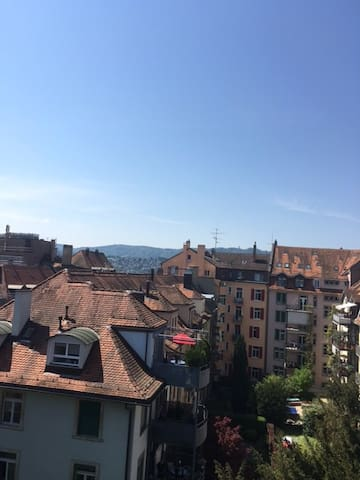 2 rooms flat, 6th floor kitchen, bath, privacy - Zürich - Appartement