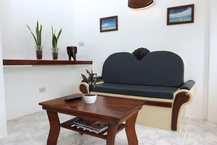 Living Space in the Honeymoon Suite