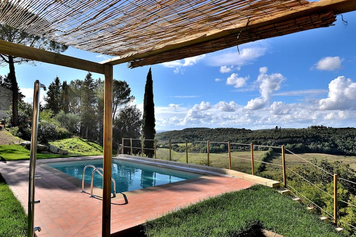 Cozy apt, ground floor, shared pool! Chianti