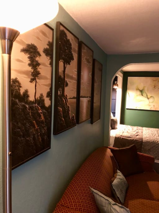 Much like the original Kalakala, there is no shortage of fine art around the suite. Most were created by local artists; However, this lovely set of four was hand-delivered from Korea.
